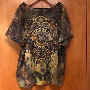 Custom Tie Dye Mandala Tunic Women's Plus 34/36